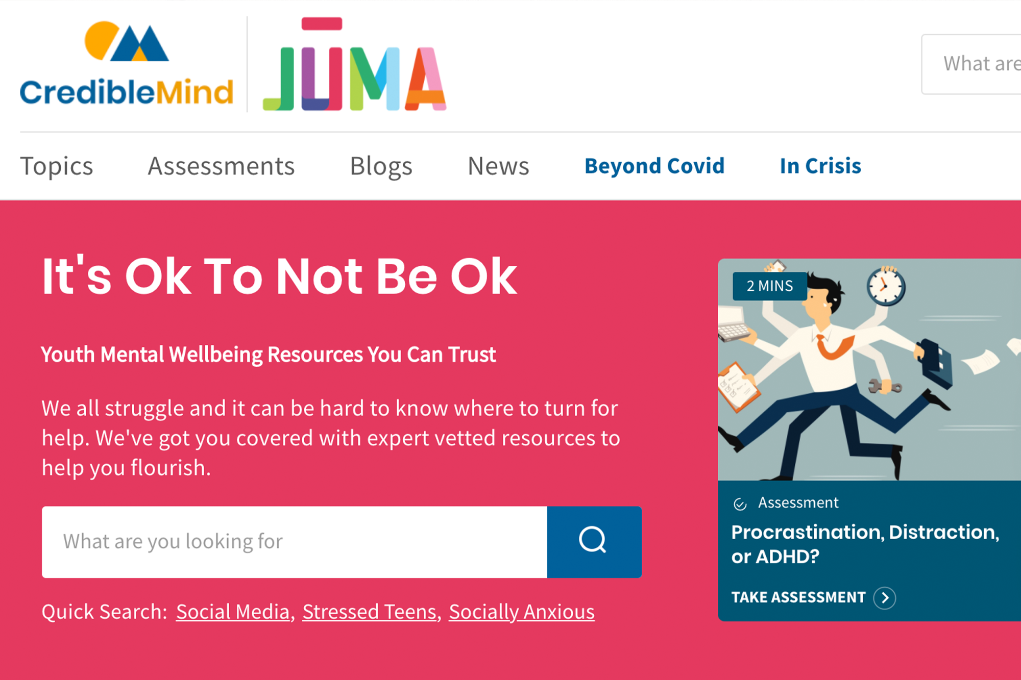 When It's Ok Not to Be Ok: Juma Tackles Self-Care with Credible Mind